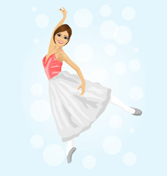 young beautiful ballerina posing and dancing vector image