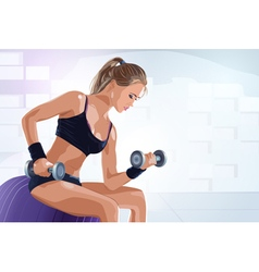 Young sports woman vector image