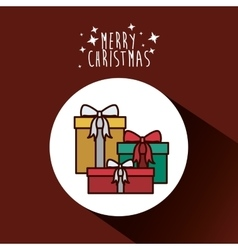 Gifts of merry christmas design vector