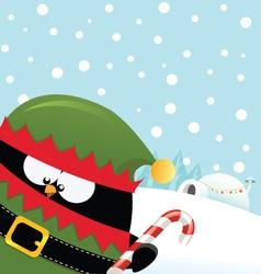 Elf Penguin vector image