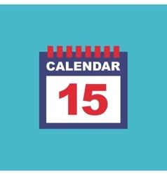 Calendar reminder flat isolated icon vector