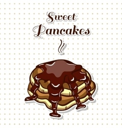 Pancakes with chocolate vector