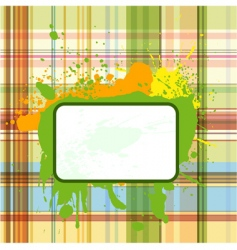 Grunge checked background vector