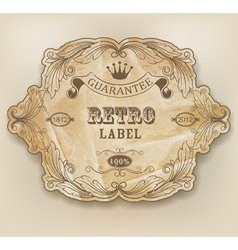 Vintage label with design elements vector