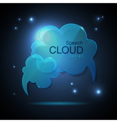 Website template design cloud speech bubble vector