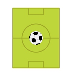 Football soccer ball field scheme with gates flat vector