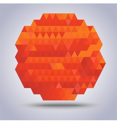 Abstract geometric orange with triangles pattern vector
