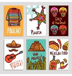 Mexico poster set vector