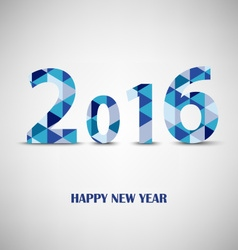 New year card with blue triangular pattern vector