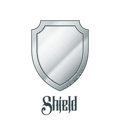 Empty metal shield vector