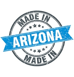 Made in arizona blue round vintage stamp vector