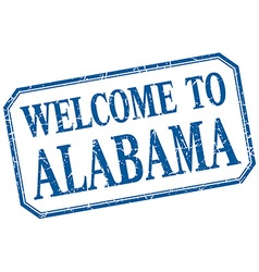 Alabama - welcome blue vintage isolated label vector