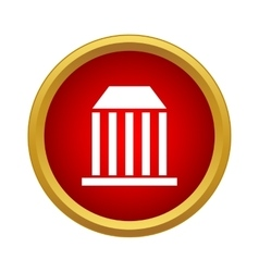 Bank icon in simple style vector