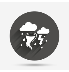 Storm bad weather sign icon gale hurricane vector