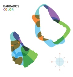 Abstract color map of barbados vector