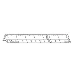 Architects scale ruler architectural drawings vector