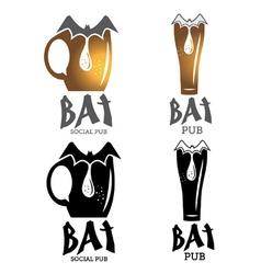bat pub vector image vector image