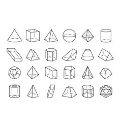 collection of geometric shapes vector image vector image