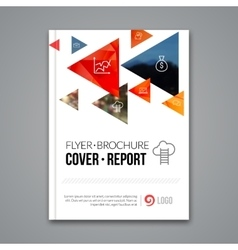 Cover report colorful pilygonal geometric vector