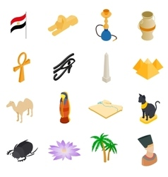 Egypt isometric 3d icons vector