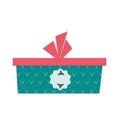 Gft holiday box for birthday with ribbon cartoon vector image vector image