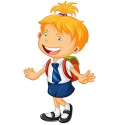 Girl in school uniform vector