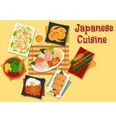 Japanese cuisine lunch icon for menu design vector image