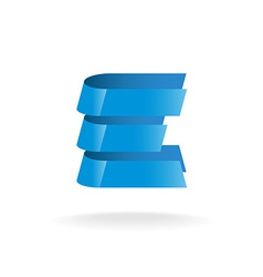 Letter e logo technical style blue bars vector