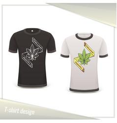 medical marijuana tshirt one vector image vector image