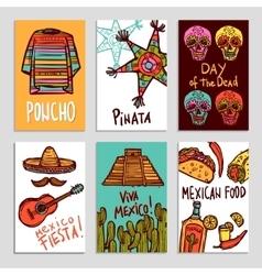 Mexico poster set vector
