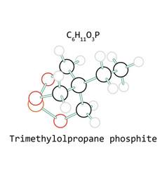 molecule c6h11o3p trimethylolpropane phosphite vector image