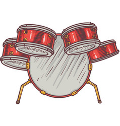 Monkey and drums vector