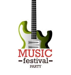 Music festival design vector image