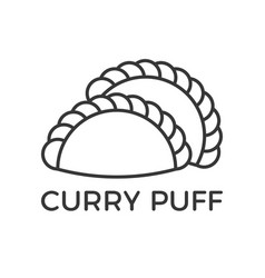 Outline icon for use as pastry sign vector