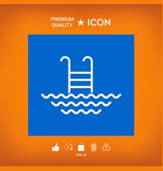 Pool line icon vector