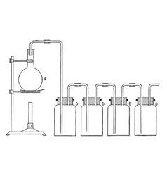 Preparing chlorine vintage vector