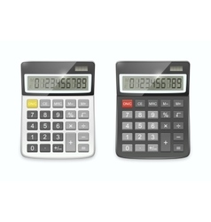 Realistic calculator set isolated on white vector
