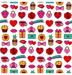 Romantic Coloring Seamless Pattern vector image vector image