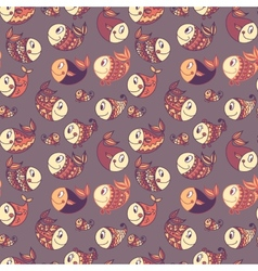Seamless pattern background of colorful happy vector image vector image