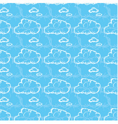 seamless pattern with clouds vector image vector image