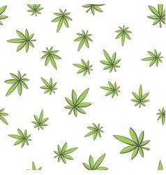 seamless texture marijuana one vector image vector image