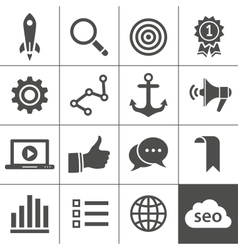 Search engine optimization icon set vector