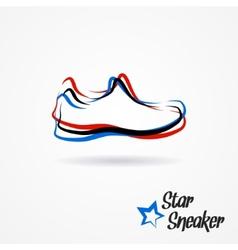 Star sneaker logo vector