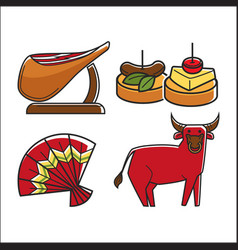 Tasty traditional food vector