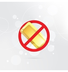 The symbol of the prohibition of gold bars vector image