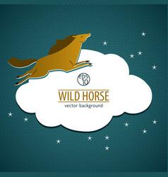 Wild horse emblem vector
