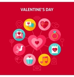Concept happy valentine day vector
