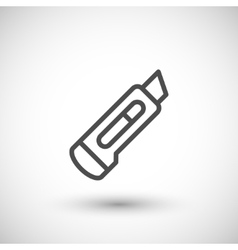 Stationery knife line icon vector
