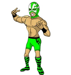 Wrestler shock vector