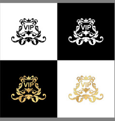 elegant rococo ornament in victorian style it is vector image